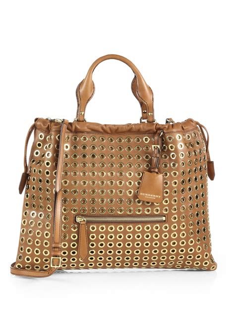 Nicky And Burberry Prorsum Tote by Burberry Prorsum Big Crush Eyelet Leather Tote Bag In