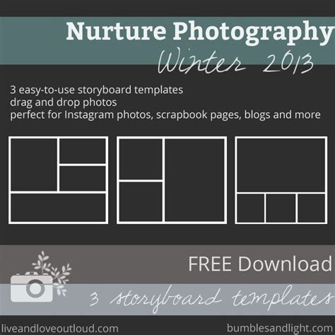 storyboard templates and photo collage free on pinterest