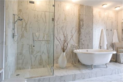 Porcelain Tile In Bathroom by Calacatta Porcelain Tile Bathroom Nashville By Mission Tile