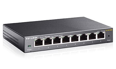 Tp Link Tl Sg108e Switch 8 Port Gigabit Easy Smart switch tp link tl sg108e gigabit 8 port gigabit euronics
