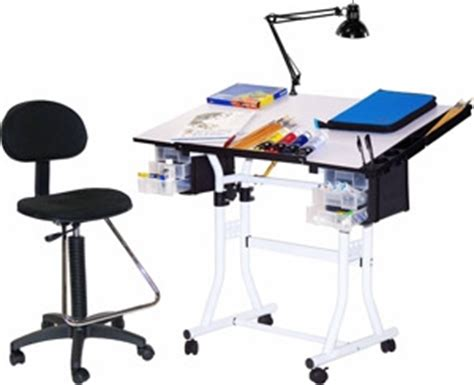 martin universal design creation station deluxe hobby table package u ds90041wh engineersupply
