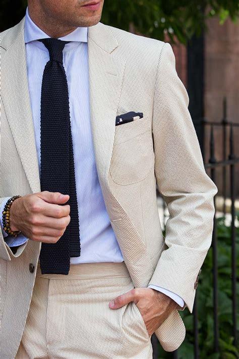 knit tie with suit seersucker suit knit tie he spoke style