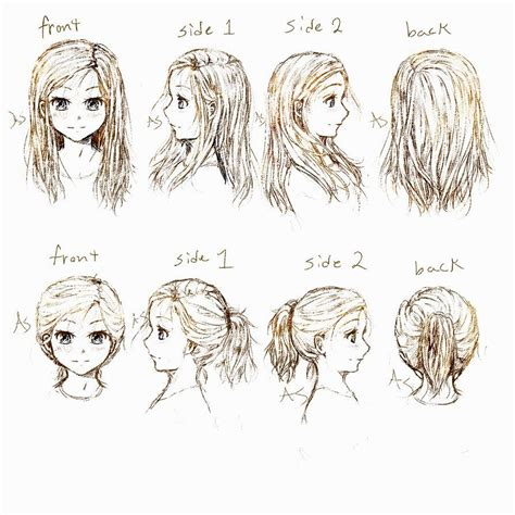 Anime Hairstyles Side View | anime girl hairstyles side view hairstyles ideas