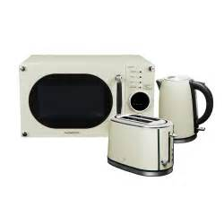 Daewoo Microwaves Daewoo Retro Microwave Kettle And Toaster Set