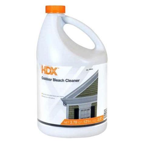 hdx  oz outdoor bleach cleaner   home