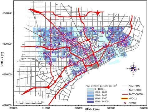 detroit traffic map ijerph free text a comparison of exposure metrics