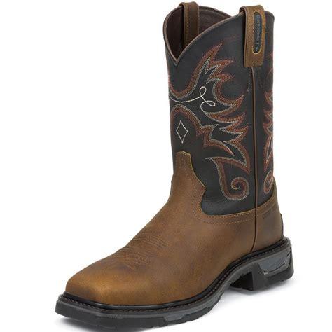 tony lama work boots shop s tony lama walnut tacoma composition toe work boots
