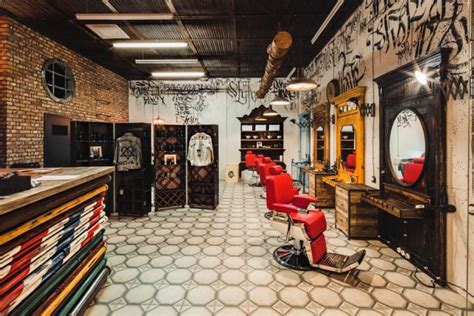 interior barbershop hyper masculine barbershop designs barbershop design