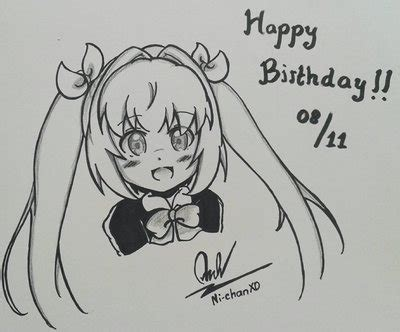 doodle name hbd hbd to me xd by ni chanxd on deviantart