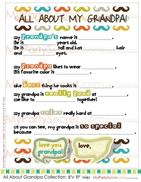 printable birthday cards for grandpa diy printable 8 x 10 fathers day letter or birthday letter