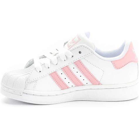 adidas  superstar  preschool whitepink  shoe
