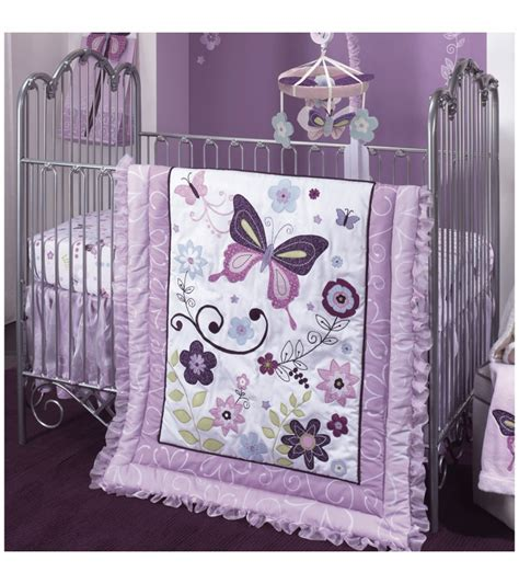 lambs butterfly 5 crib bedding set