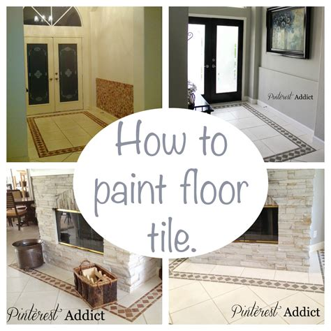 how to paint a tile floor bathroom painting floor tile pinterest addict