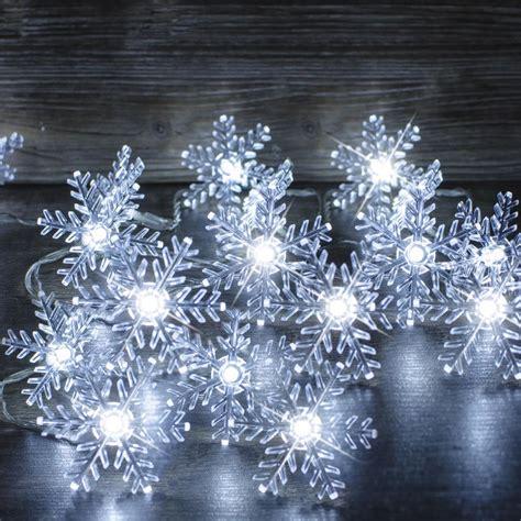 snowflake string lights snowflake string lights white led 80pcs xb0151