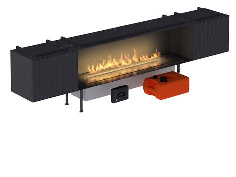 smart fireplace insert with external fuel tank line