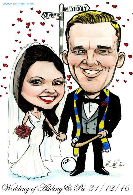wedding invitations caricature drawing gaa themed weddings caricatures ireland by allan cavanagh
