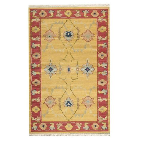rugs home decorators collection home decorators collection fairfax gold 5 ft x 8 ft area rug 0378320530 the home depot