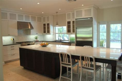 kitchen island with table seating kitchen island table on modern kitchen island
