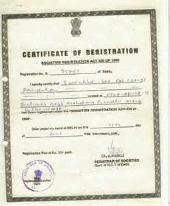 Meaning Certification Letter certificate of registration for ngo trust and society 2014