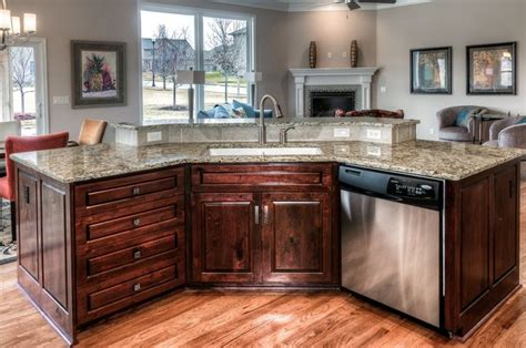 home styles brushed satin stainless steel kitchen island woodland homes kitchen island bat wing style birch