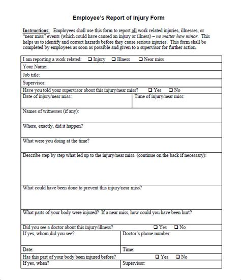 incident report template 32 free word pdf format