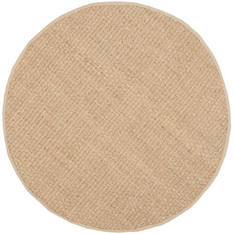 6ft circular rugs safavieh fiber beige 6 ft x 6 ft area rug nf114a 6r the home depot