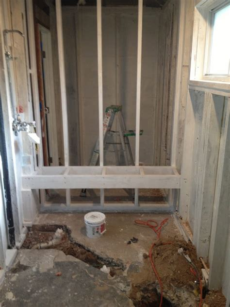 bathroom construction steps custom shower construction shower remodel austin tx
