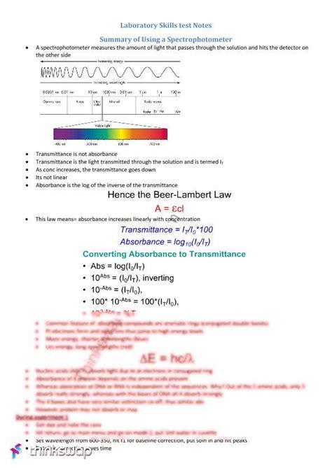 spectrophotometer lab report sle spectrophotometer lab report
