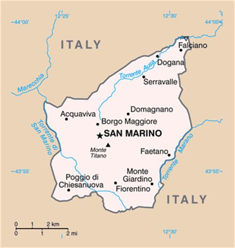 san marino on map of europe san marino politische karte
