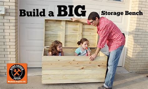 outdoor toy storage bench build a big outdoor storage bench for seat cushions toys tools and more home