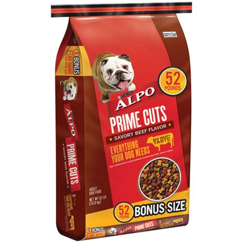 Food Alpo Prime Cuts With Beef Flavor In Gravy 623g 52 lb prime cuts savory beef flavor bonus bag