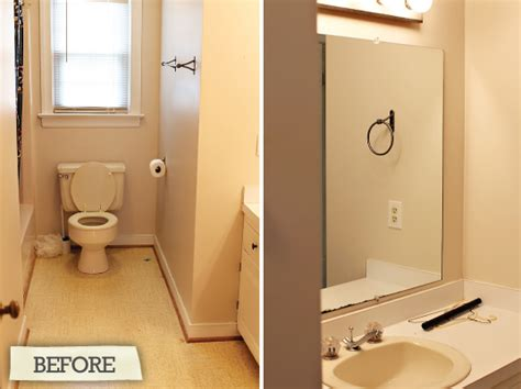 Narrow Bathroom Design before and after hall bathroom renovation