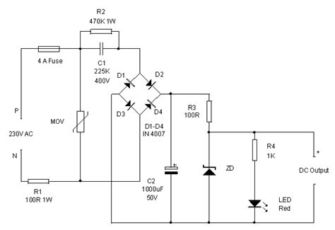 dropping capacitor power supply diagram selection of the dropping capacitor and the circuit design images frompo