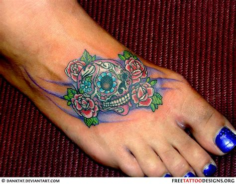 roses on foot tattoo foot gallery