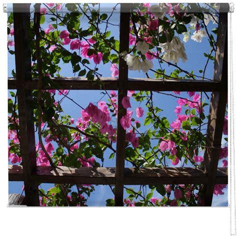 flower design roller blinds printed picture roller blind flower pergola printed