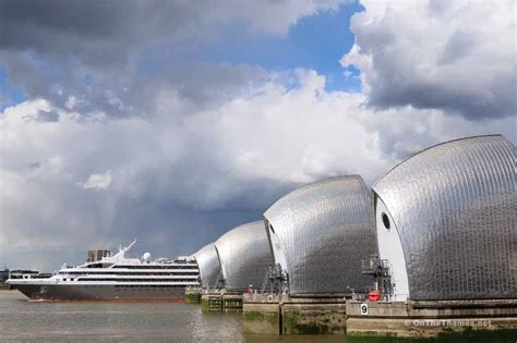 thames barrier frequency use photos cruise ship l austral on the thames visiting
