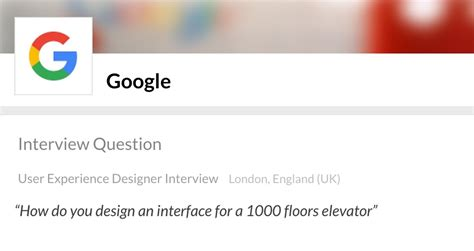 google design interview the 1 000 floor elevator why most designers fail google s