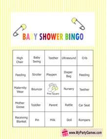 baby bingo template printable free printable baby shower bingo cards