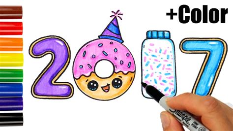 how to draw a new year new year drawings merry and happy new