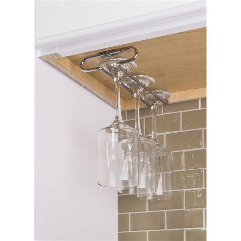 Cabinet Stemware Rack by Polished Chrome Cabinet Stemware Rack Corwin Home