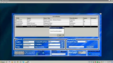 form design for library management system in vb visual basic 6 library system download link at the