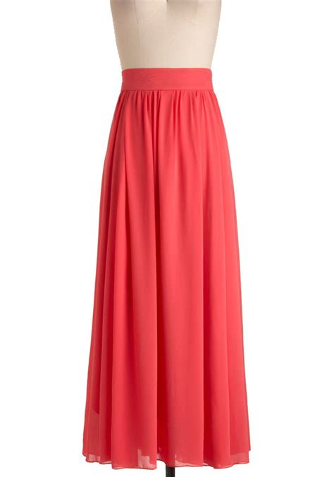to the skirt in coral