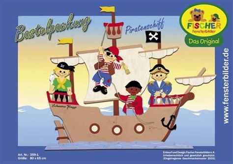 bastelvorlagen weihnachten fensterbilder kinder fensterbild bastelvorlage piratenschiff fischer