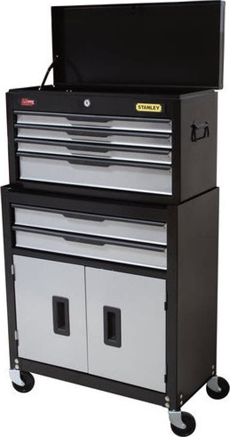 stanley 6 drawer chest and cabinet combo 873388005529 stanley professional tool chest cabinet combo