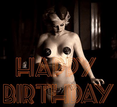 hot chick jumping out of cake hot happy birthday gifs share with friends