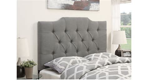 gray upholstered headboard king elani dove gray king upholstered headboard
