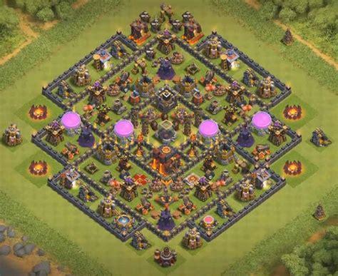 coc th10 farming base layout top 60 best th10 base layouts war farming hybrid