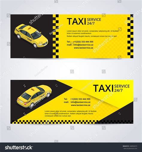 taxi business cards templates free taxi card taxidrivers taxiservice 247 vector stock vector