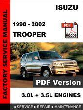 service manuals schematics 1998 isuzu trooper regenerative braking isuzu trooper repair manual ebay