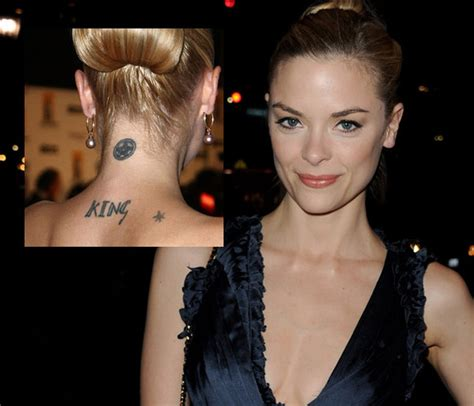 jaime king the hottest celebrity tattoos zimbio